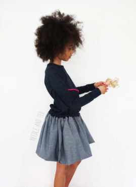Needle and Ted made a long sleeve version of the Balloon Fold Dress