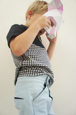 Matrix Polo and Book Fold Trousers made by Fruits de Mere