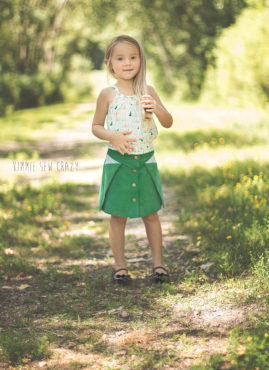 Pleat Fold Top with Pocket Fold Skirt by Kimme Sew Crazy