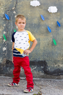Kite Fold Tee and Book Fold Trousers made by  Sew Thrifty
