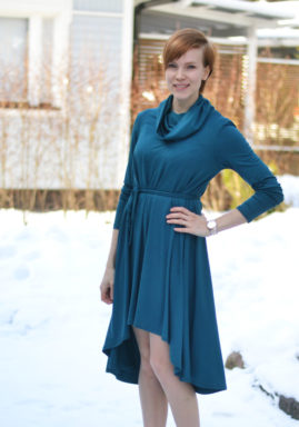 Groove Dress with self made belt by Piia the from weekendchic