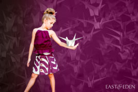 Pleat Fold Top and Pocket Fold Skirt made by Vanesssa of East and Eden