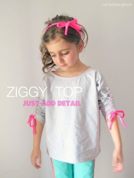 Made by La Folie Sewing Booth using The Ziggy top pattern