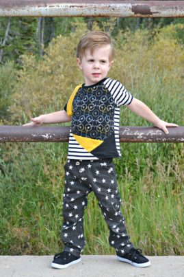 Kite Fold Tee and Book Fold Trousers made by Paisley Roots