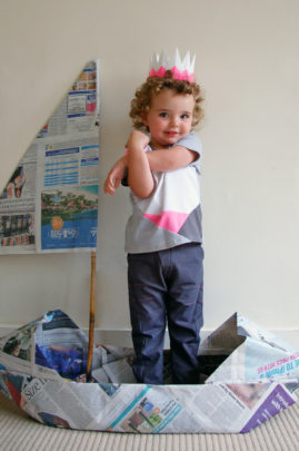 Kite Fold Tee and Book Fold Trousers Made by Toya