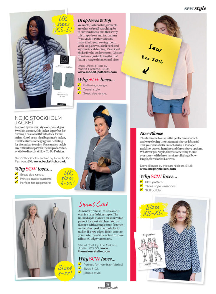 Madeit Patterns | Sewing Patterns | In The Press